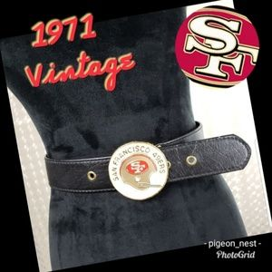 Vintage SF 49ERS Vinyl Belt with Buckle